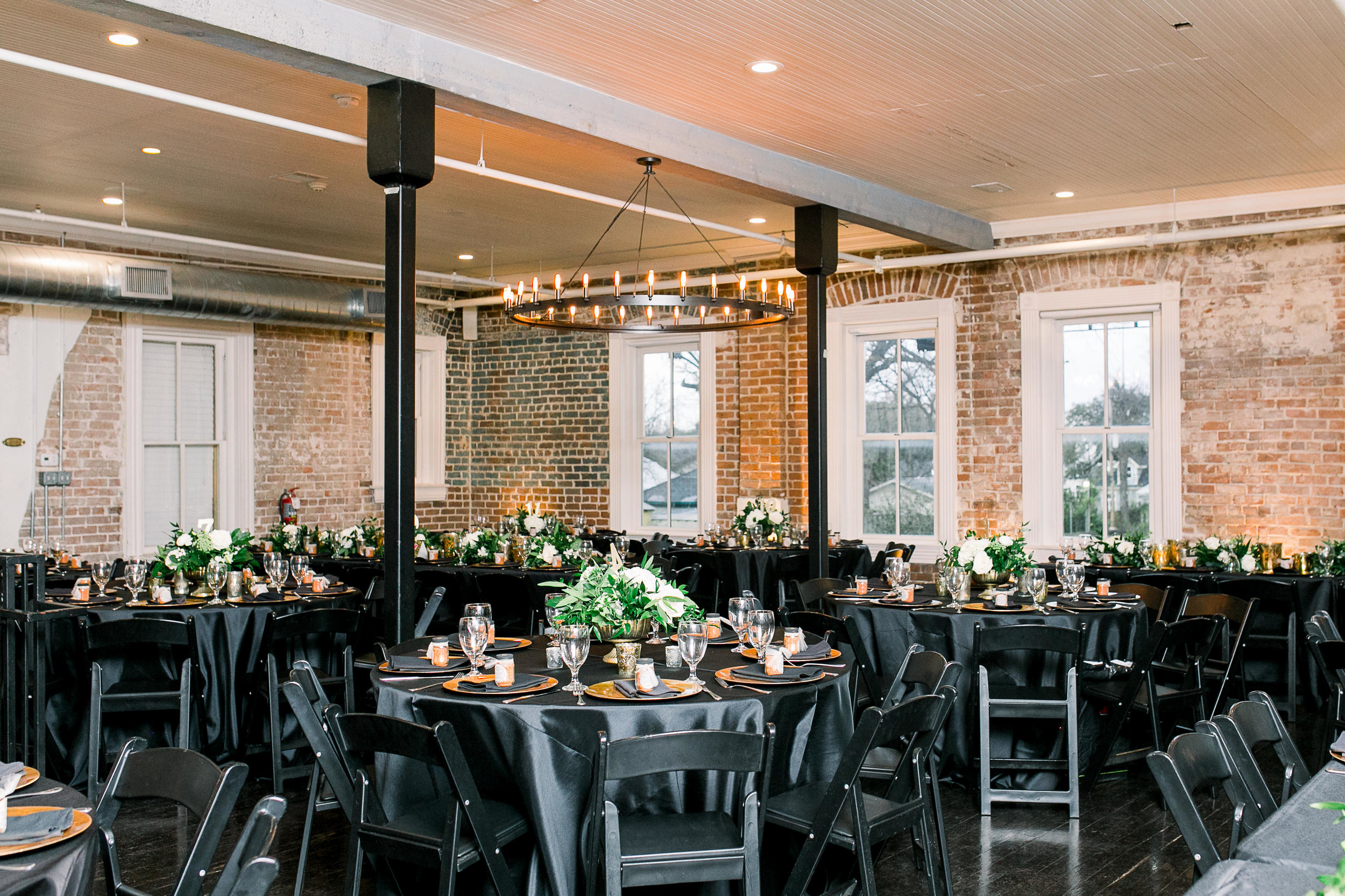 Black and Emerald Wedding Reception | Station 3 Venue in Houston, TX