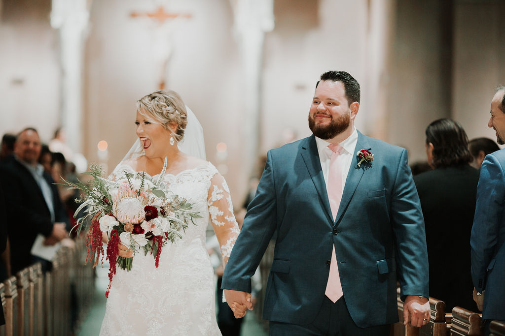 Bride and Groom exit of ceremony | Houston Weddings