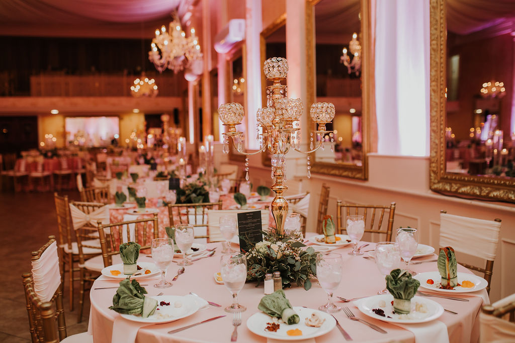 The Heights Villa Reception Venue Decor | Houston Weddings