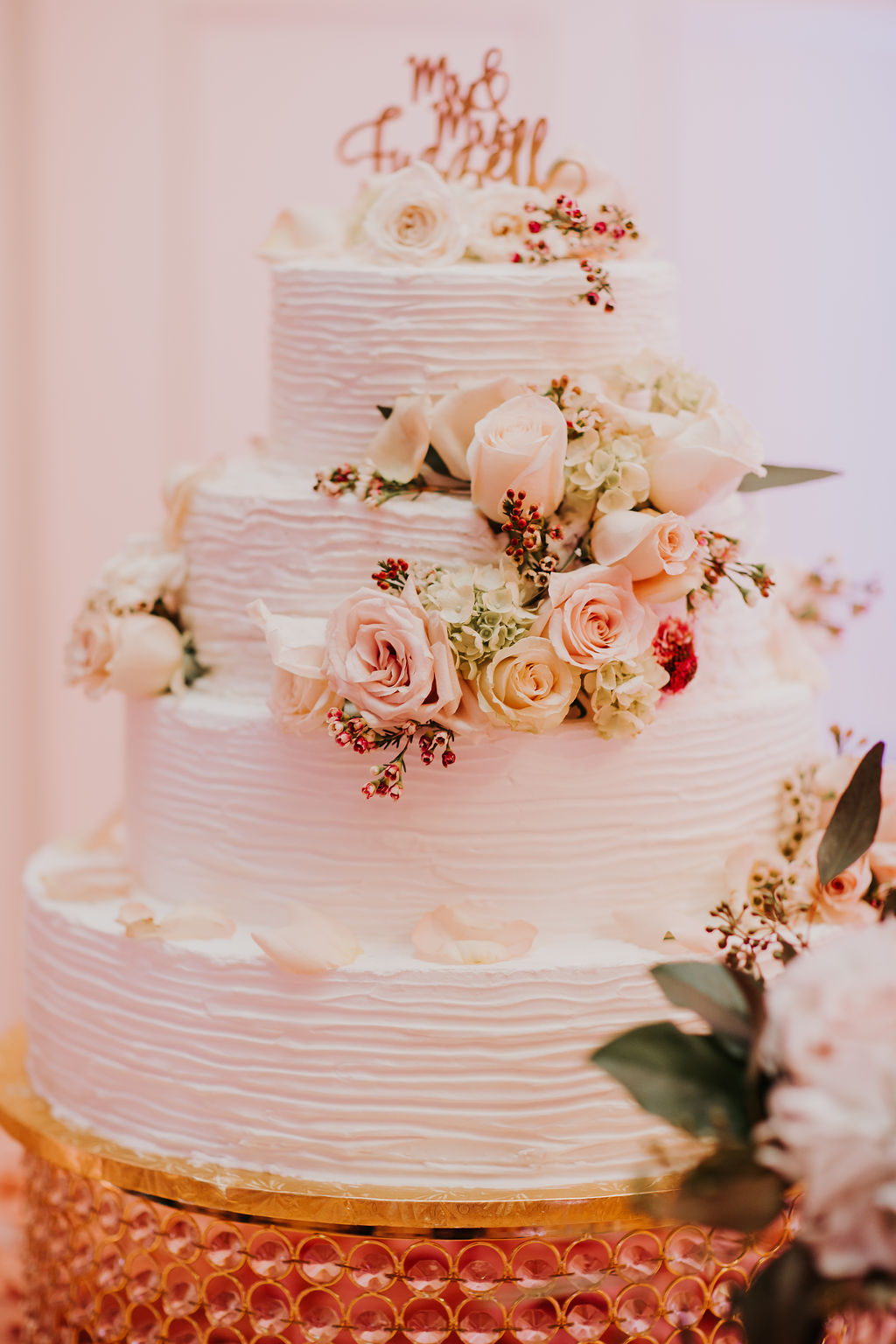 Blush color Wedding Cake | Houston Weddings