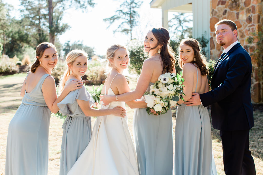 Gorgeous pastel blue bridesmaid dresses | Houston Weddings
