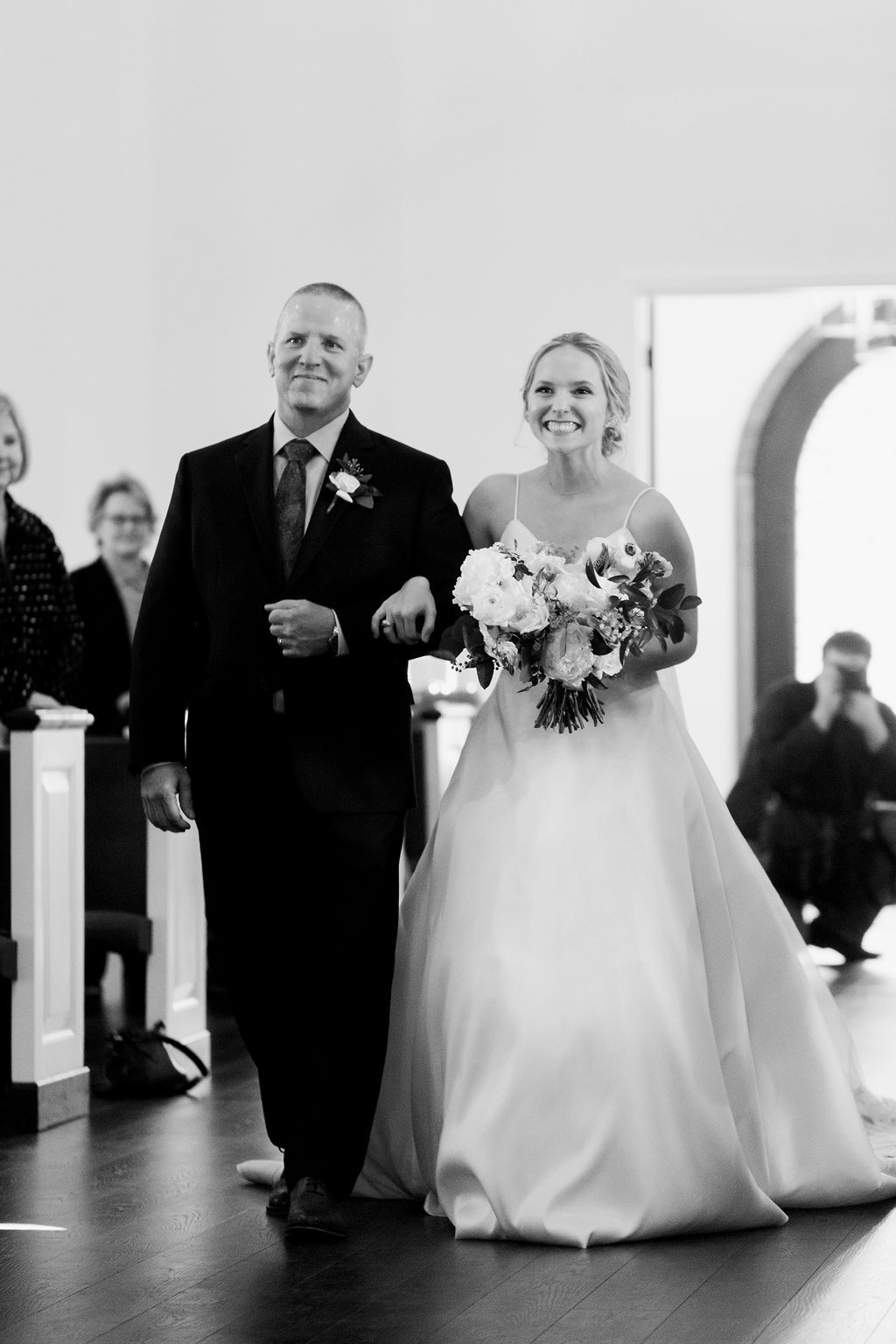 Entrance of Bride and Father | Houston Weddings