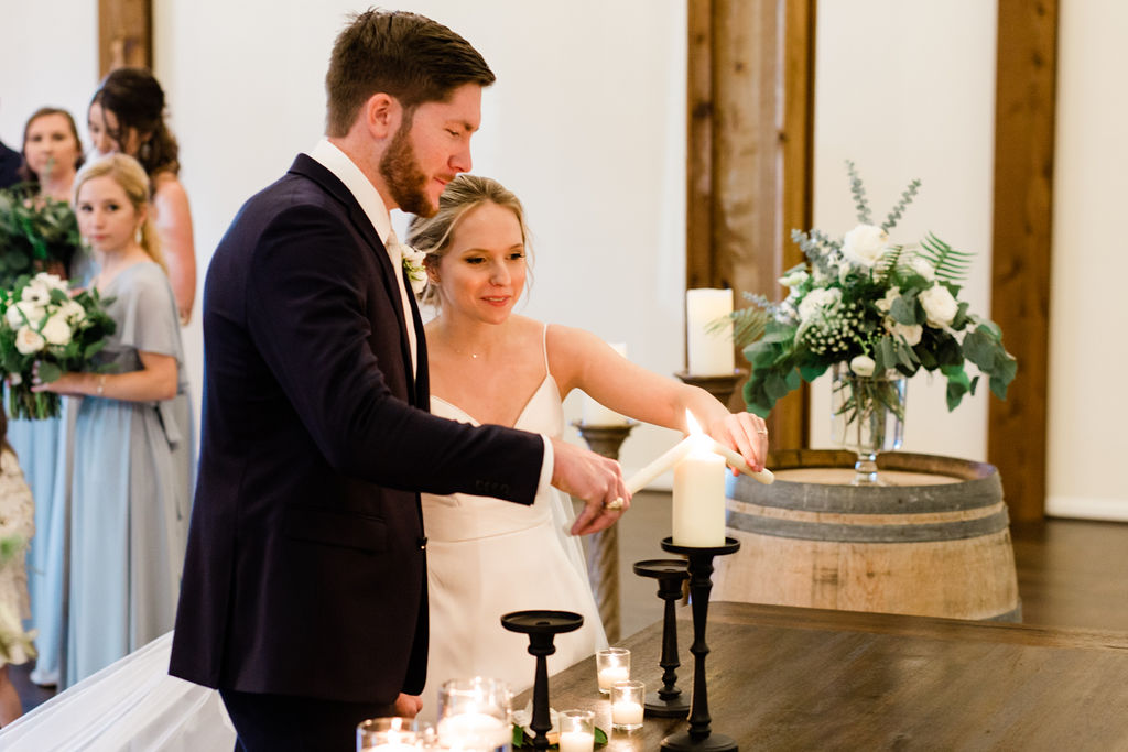 Bride and Groom Ceremony Candle Lighting | Houston Weddings