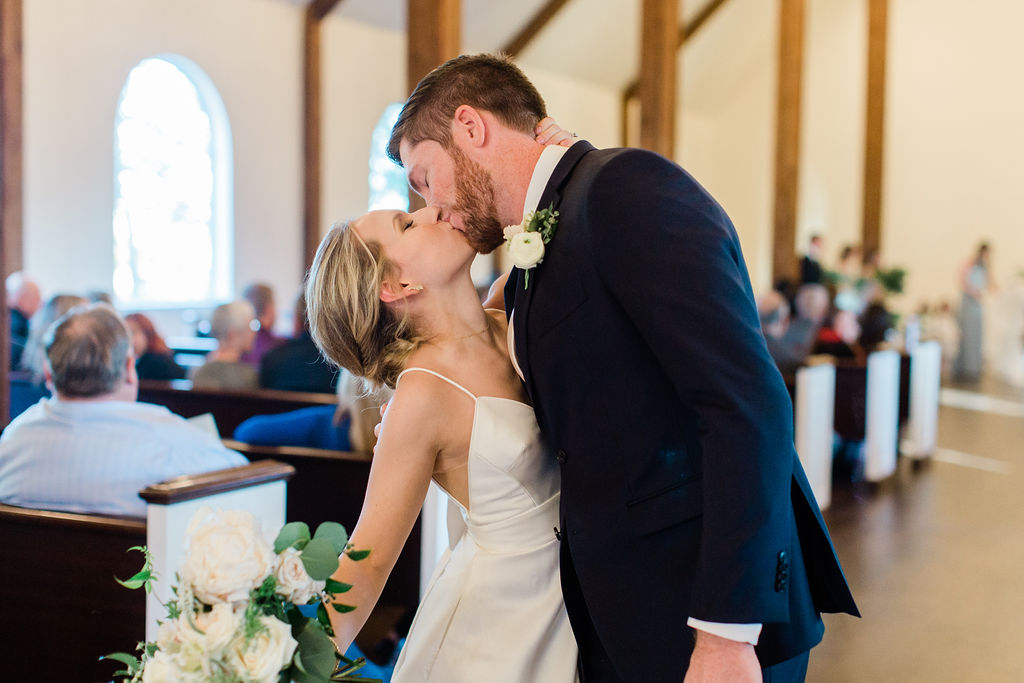 Just Married Kiss | Houston Weddings