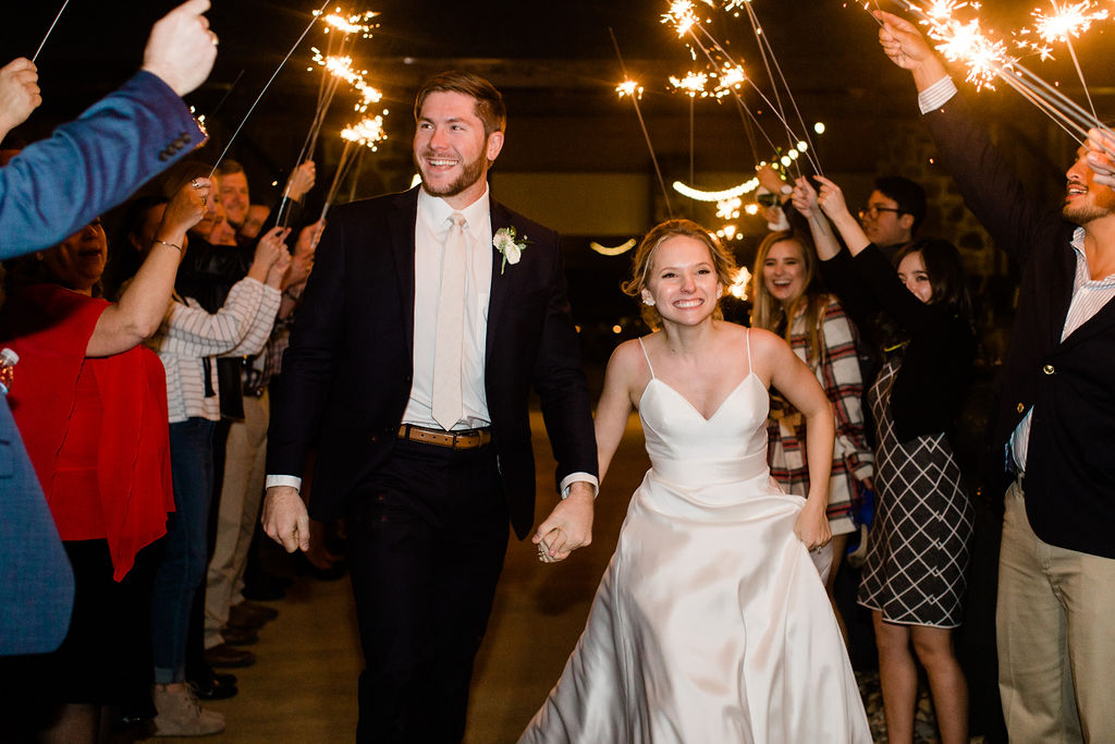 Sparklers Bride and Groom Send Off  | Houston Weddings