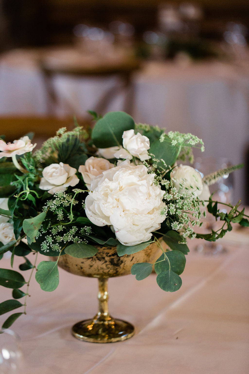 White and Green Centerpiece | Houston Weddings