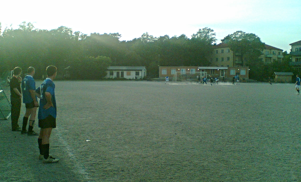 Korpen, Stora Essinge IP, grus. Today it is an astro pitch.