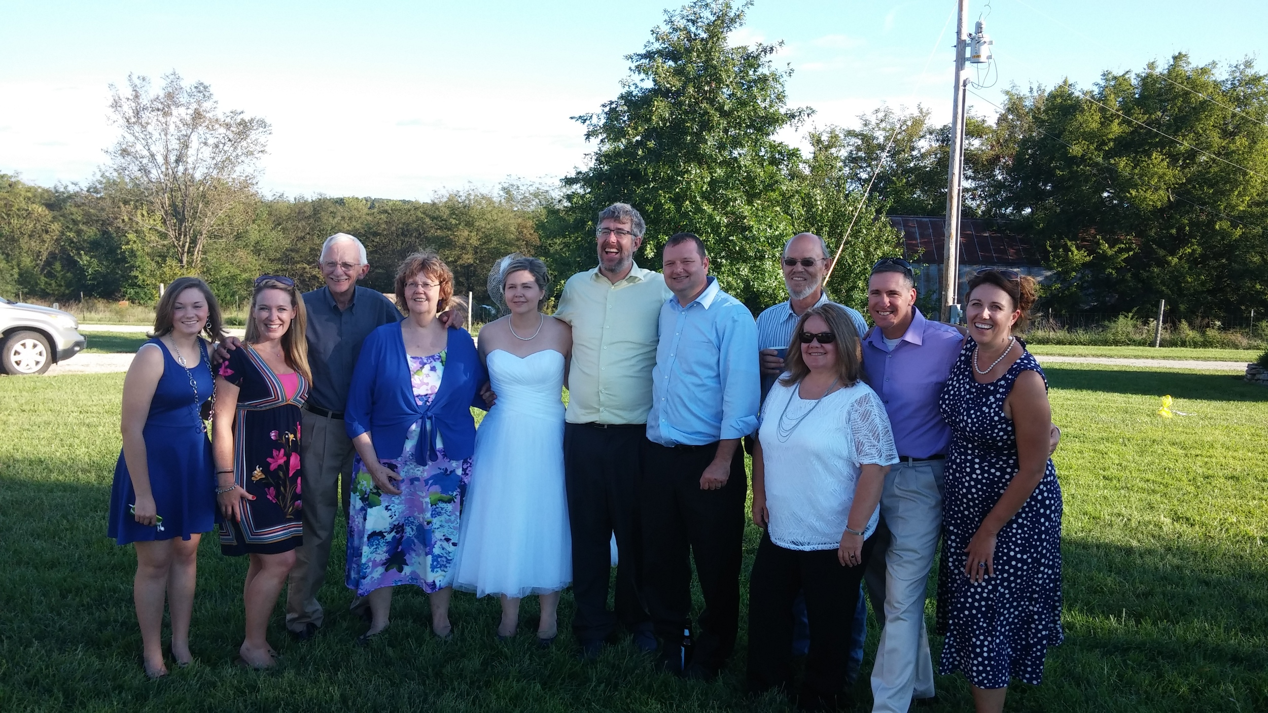 Lots of family came out to celebrate Patrick and Elizabeth's wedding day!