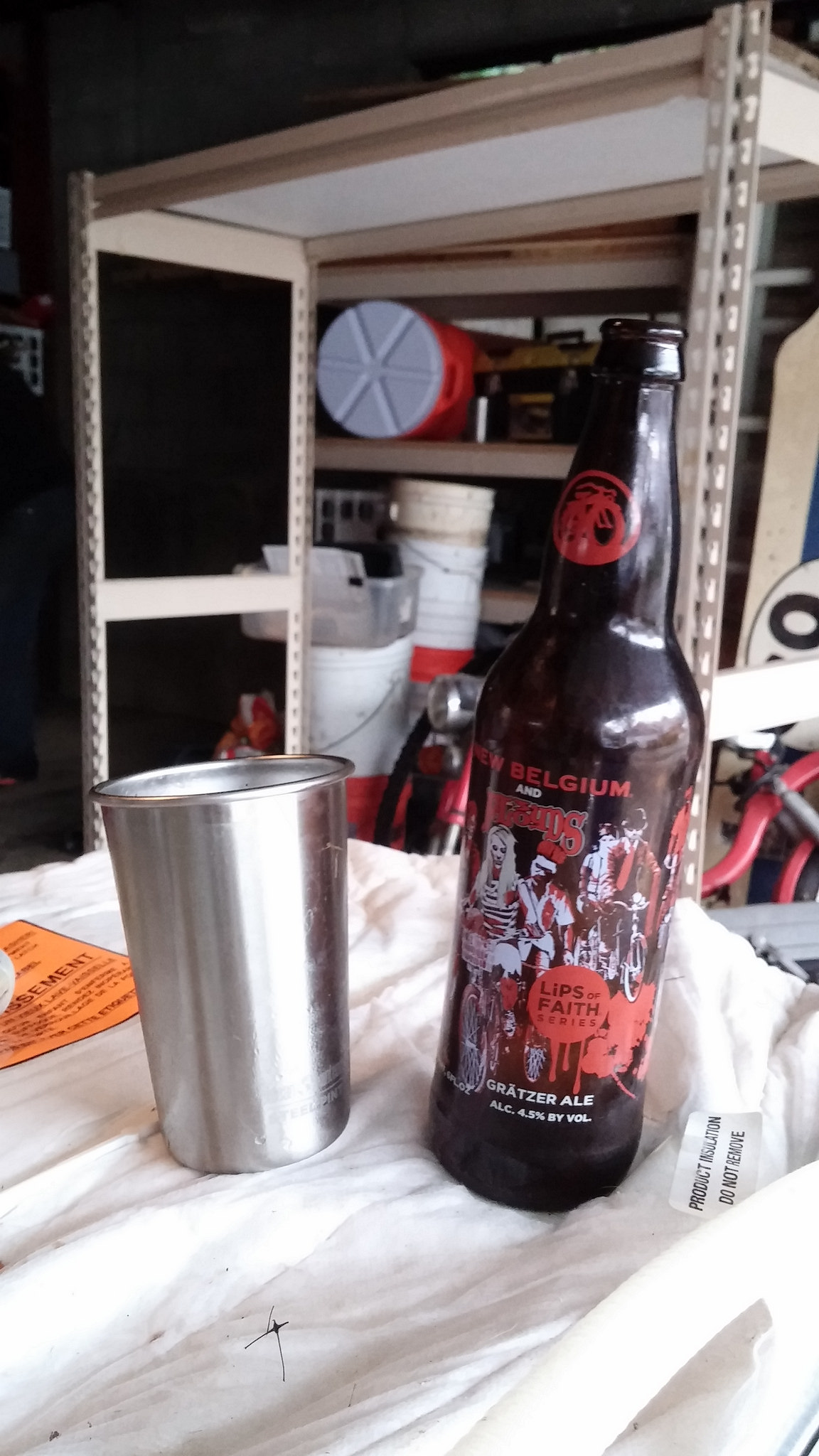 Working in the garage and drinking beer go really well together.