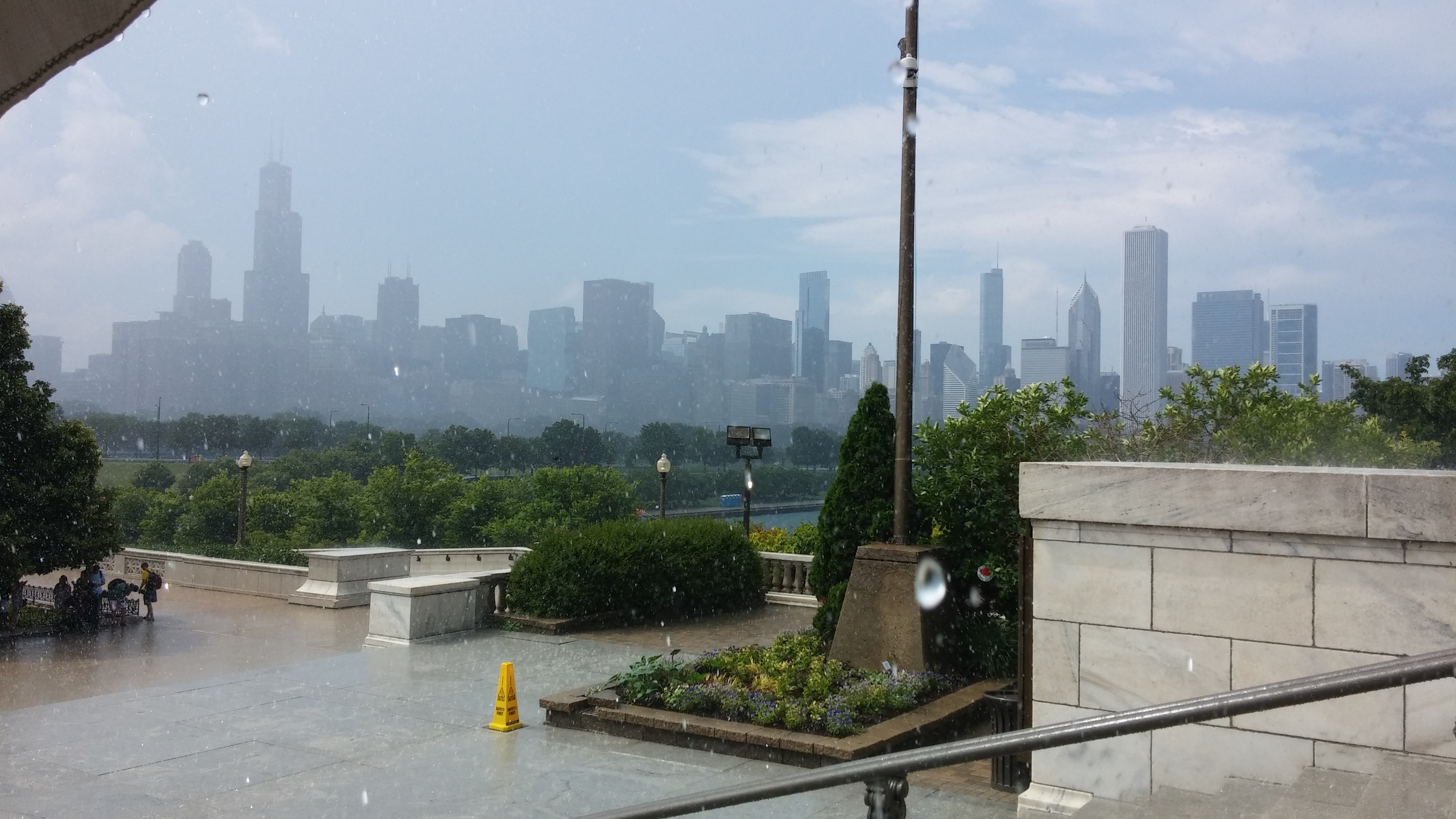 Chicago on a rainy day back in June