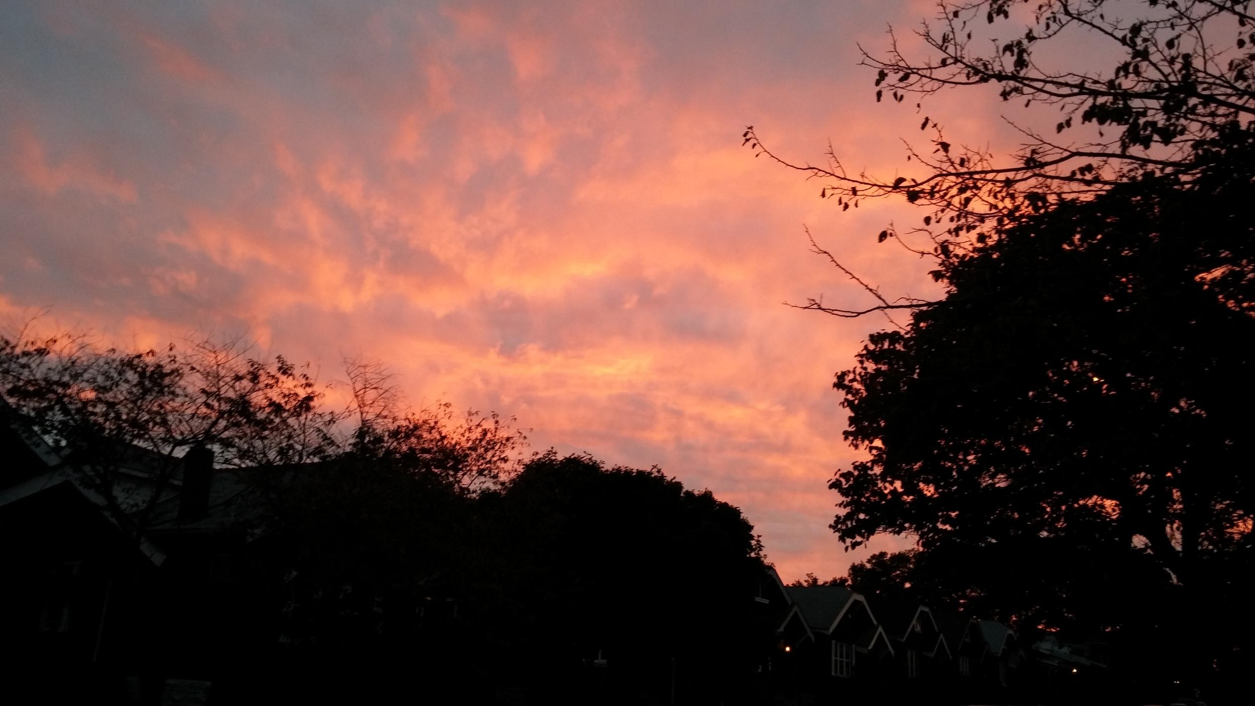The sunset was pretty! Then it got dark...