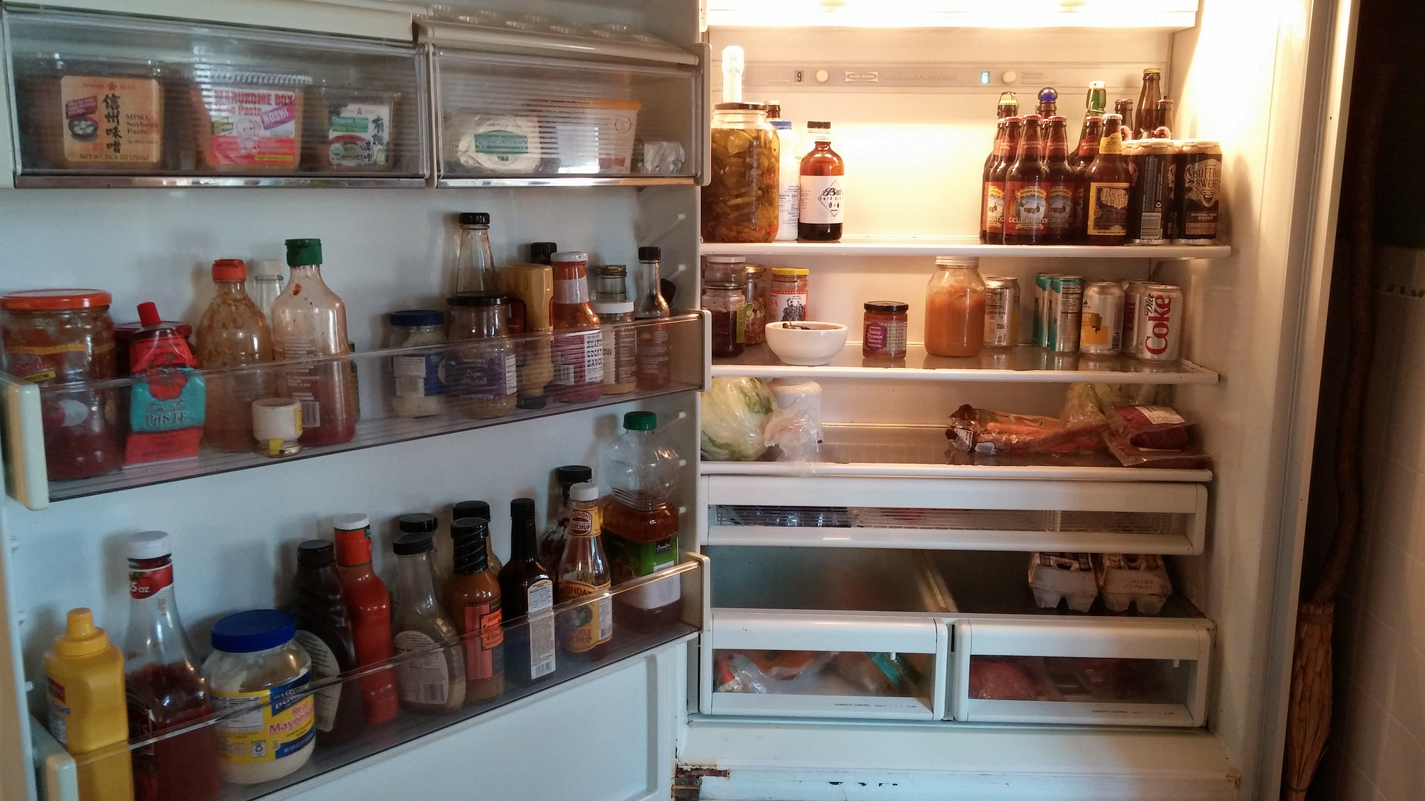 """I feel like I just posted one of those """"find the 43 differences"""" games. And yes, that is a very large jar of pickles on the top shelf. Blame Costco."""
