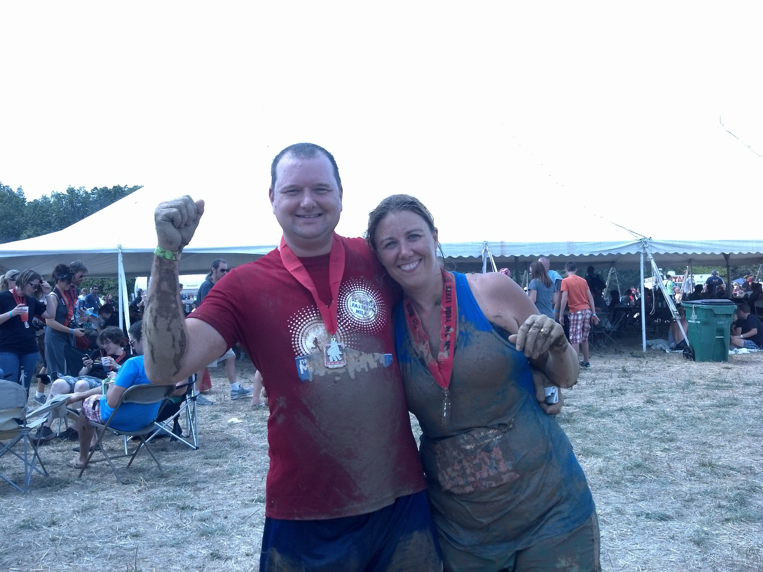 Eric and me at a zombie run in 2011. I died and Eric cheated, but I guess if they were real zombies, cheating wouldn't matter.