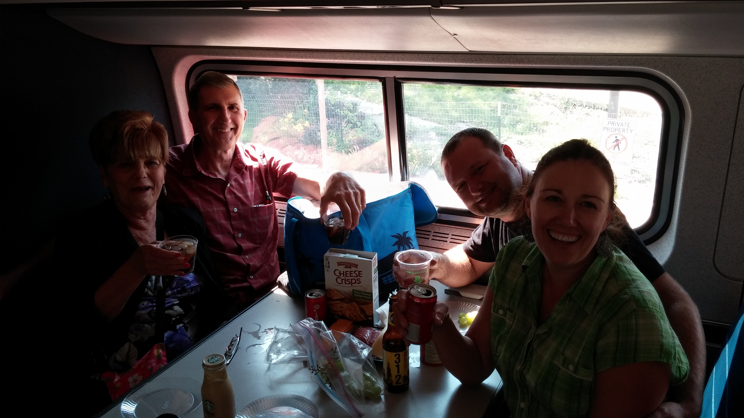 Cocktails on the train!