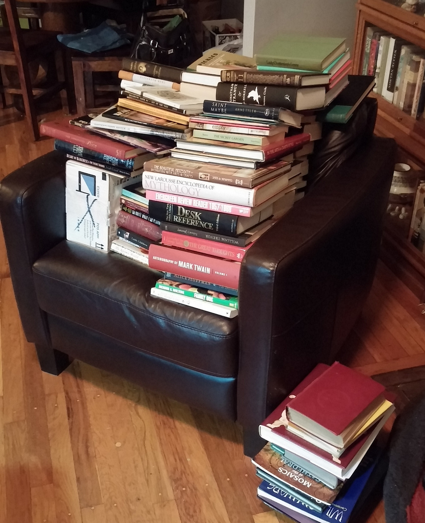 Books in need a new home.