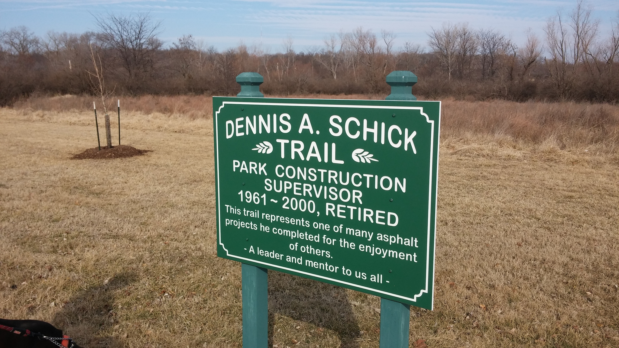 """This sign is at  Jefferson Barracks Park . I'd love to know about those """"asphalt projects."""""""