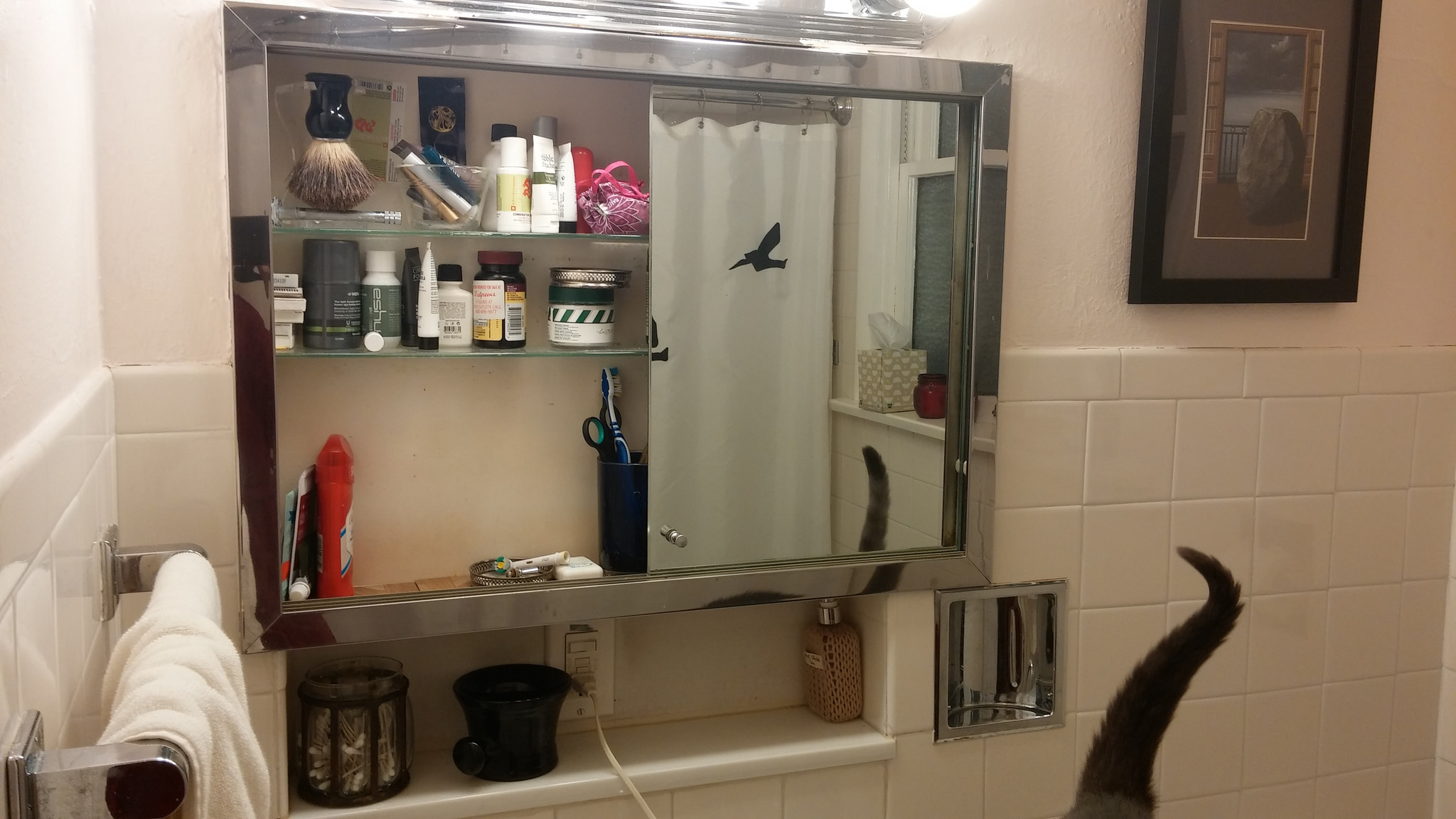 With only one door, this is as good as the medicine cabinet gets.