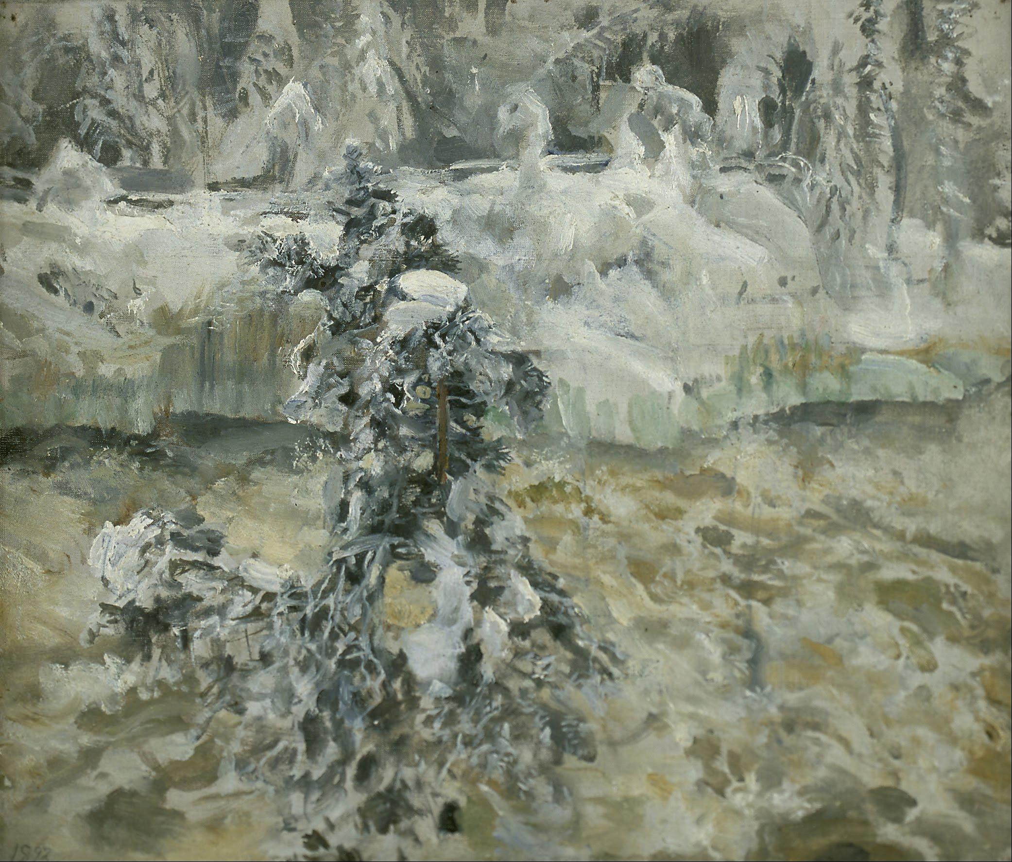 Imatra in Wintertime by Akseli Gallen-Kallela