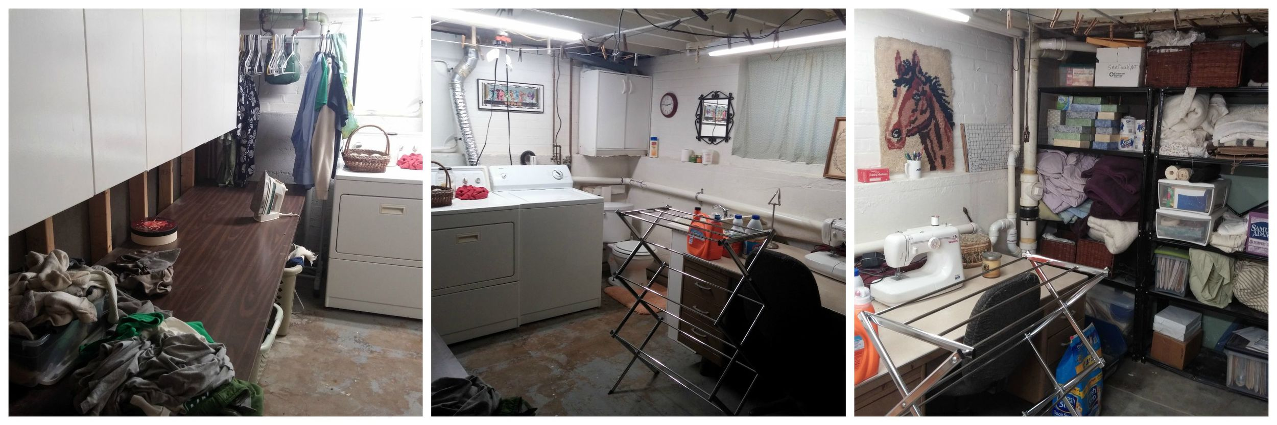 Laundry room eight months later