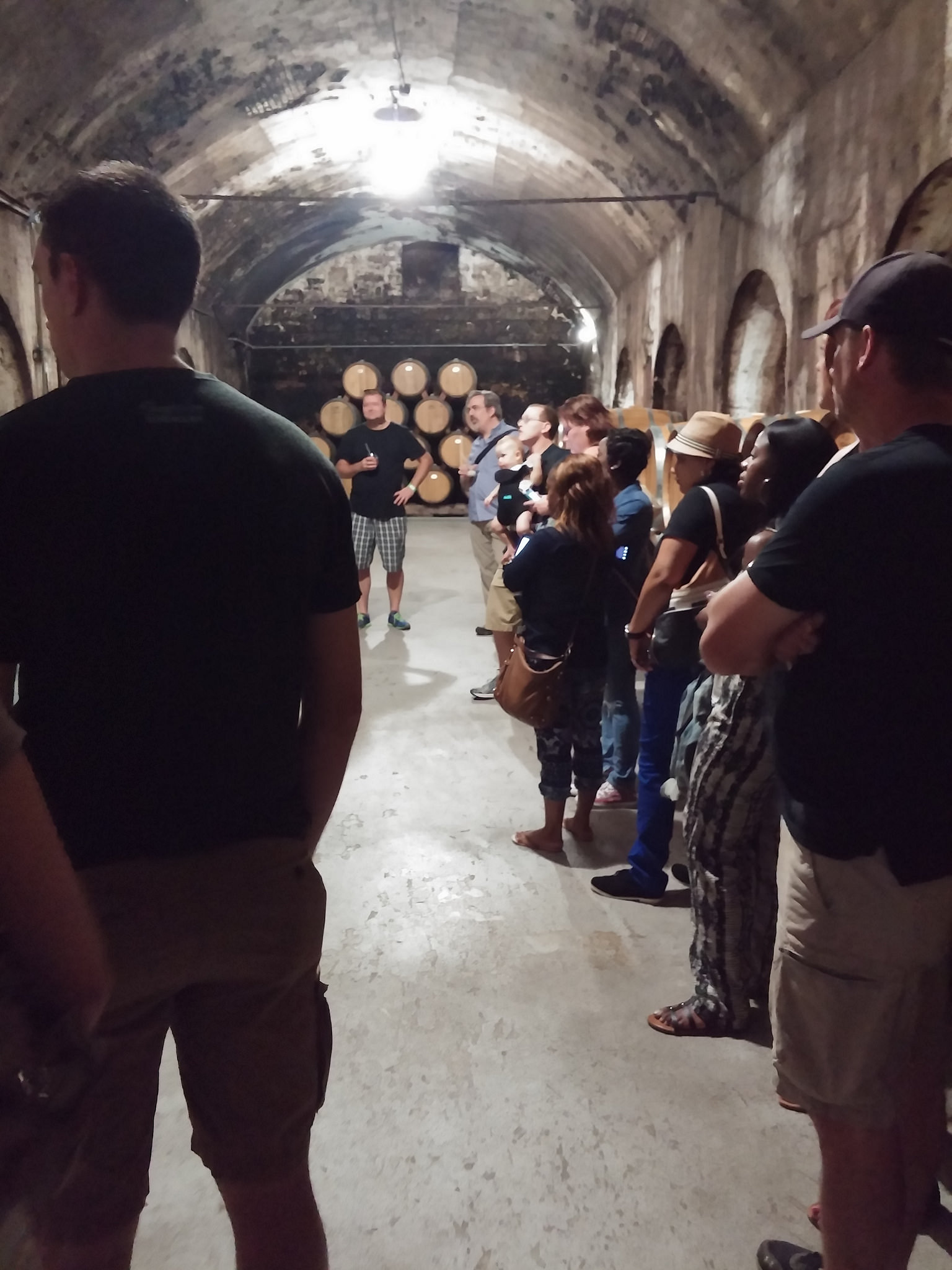 Cellar tour at Stone Hill Winery in Hermann, Missouri