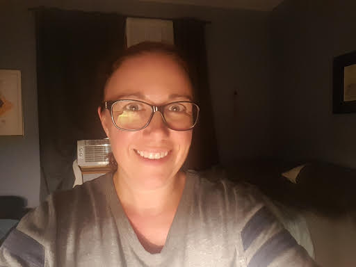 Me, glasses, no makeup.