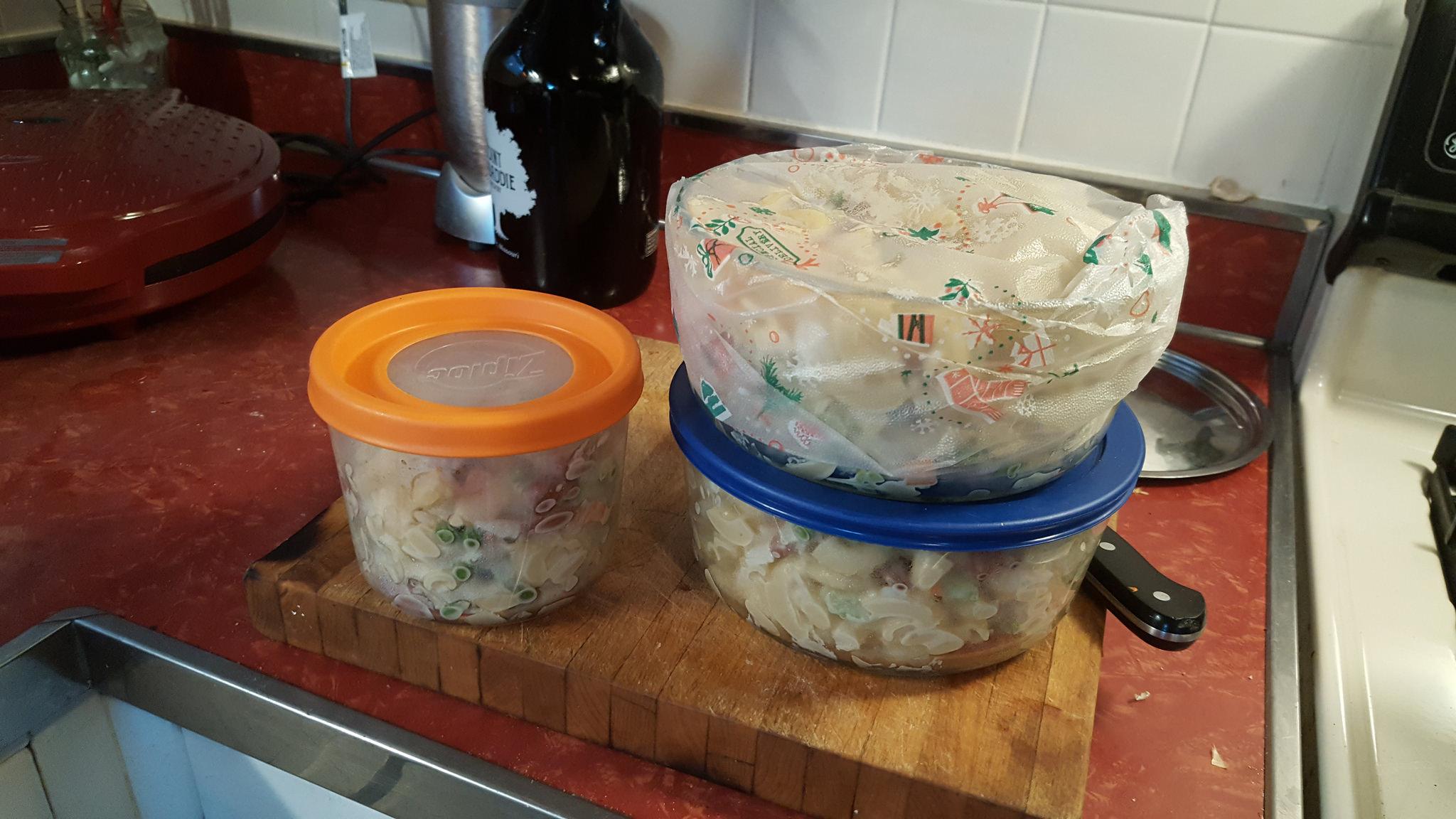 Homeless macaroni salad :(