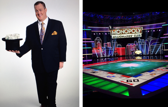 """""""Monopoly Millionaires' Club""""  Starring Billy Gardell."""