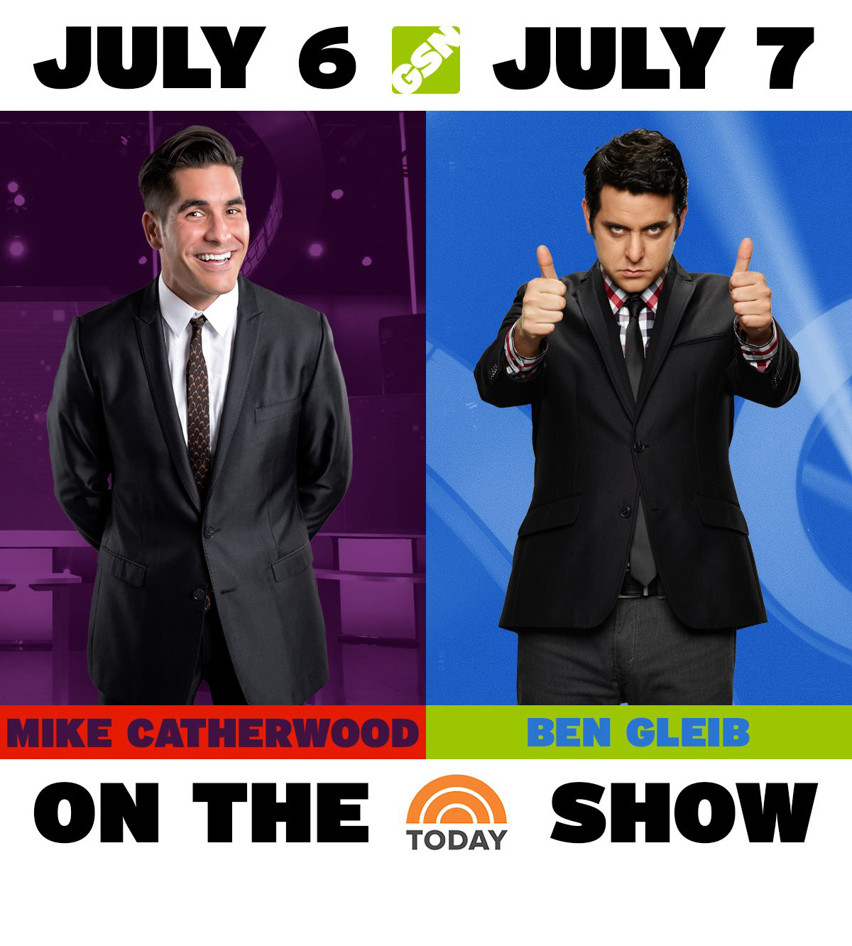 "Appearing on  ""The Today Show""  Mike Catherwood and Ben Gleib."