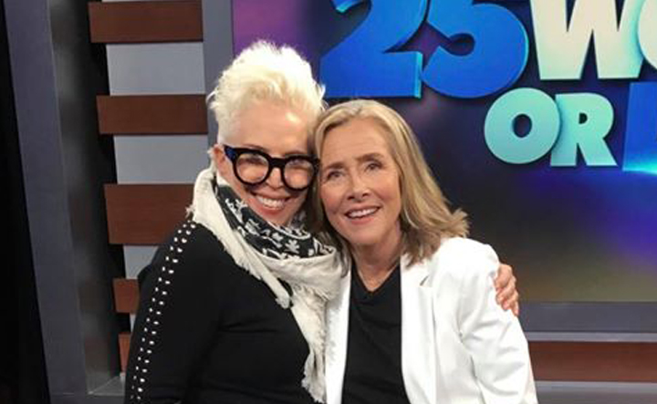 """25 Words or Less""  hosted by Meredith Vieira. Wardrobe Stylist Joanne Lavin."