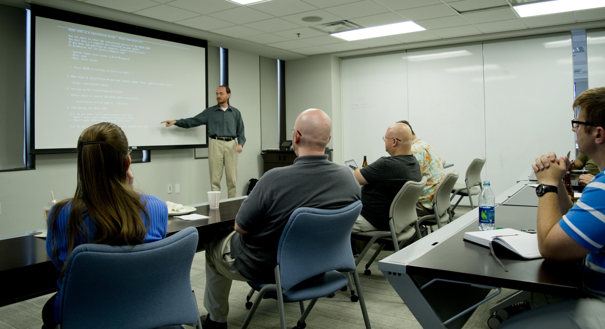 Robert presenting on OSSEC