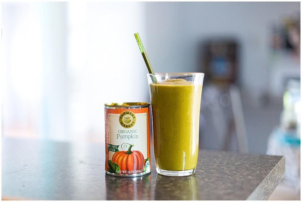 pumpkin spice greens moothie