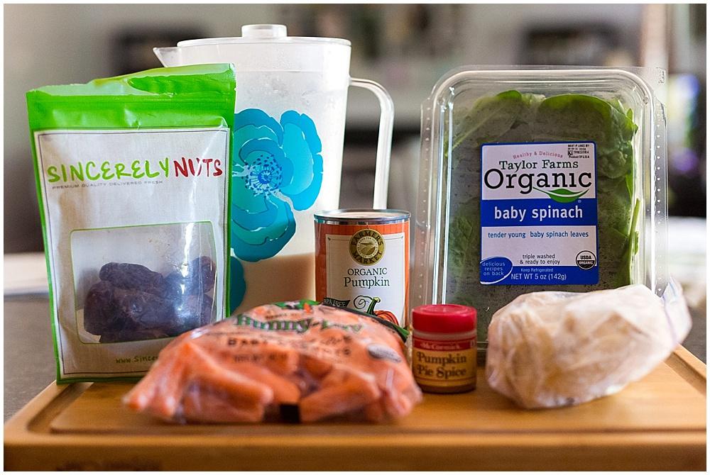 pumpkin spice green smoothie ingredients