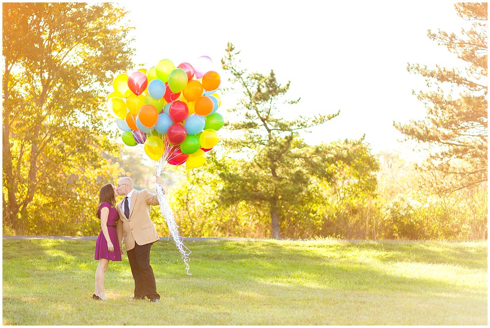 up themed engagement session