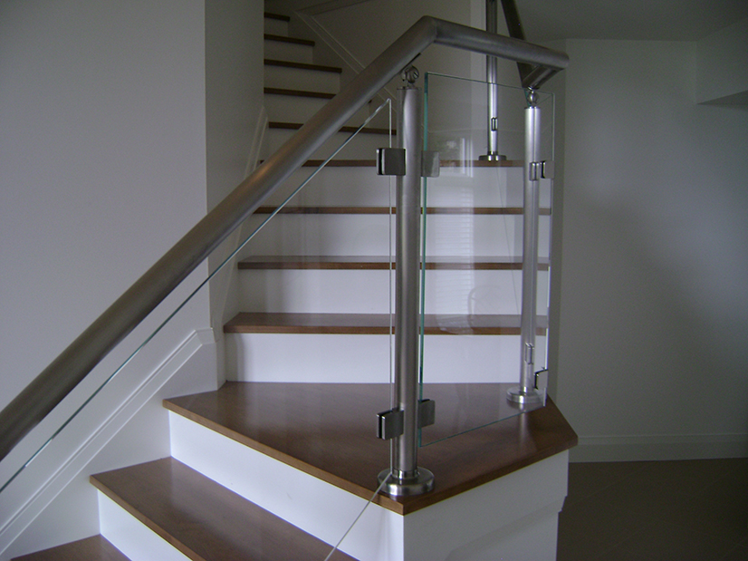 Glass Railing with Glass Clamps