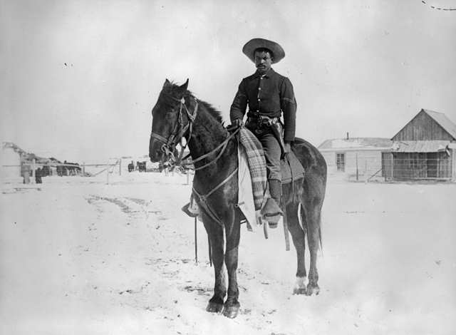 An African-American Corporal in the 9th Cavalry, 1890.