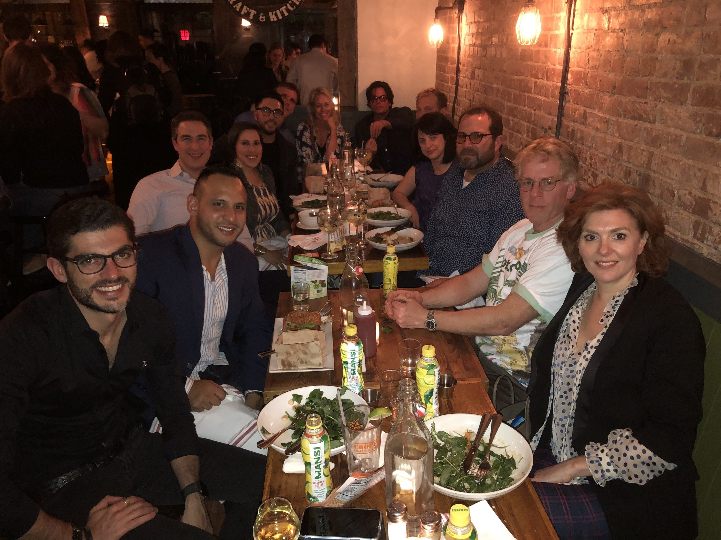Our Founders' dinner in NYC