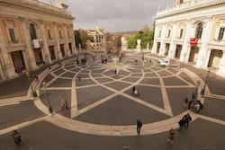 The Campidoglio square by Michelangelo