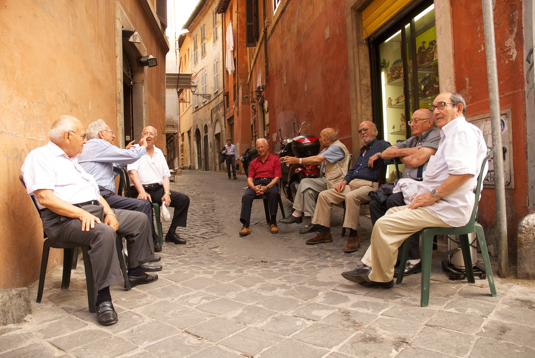 Locals Gathering for a chat