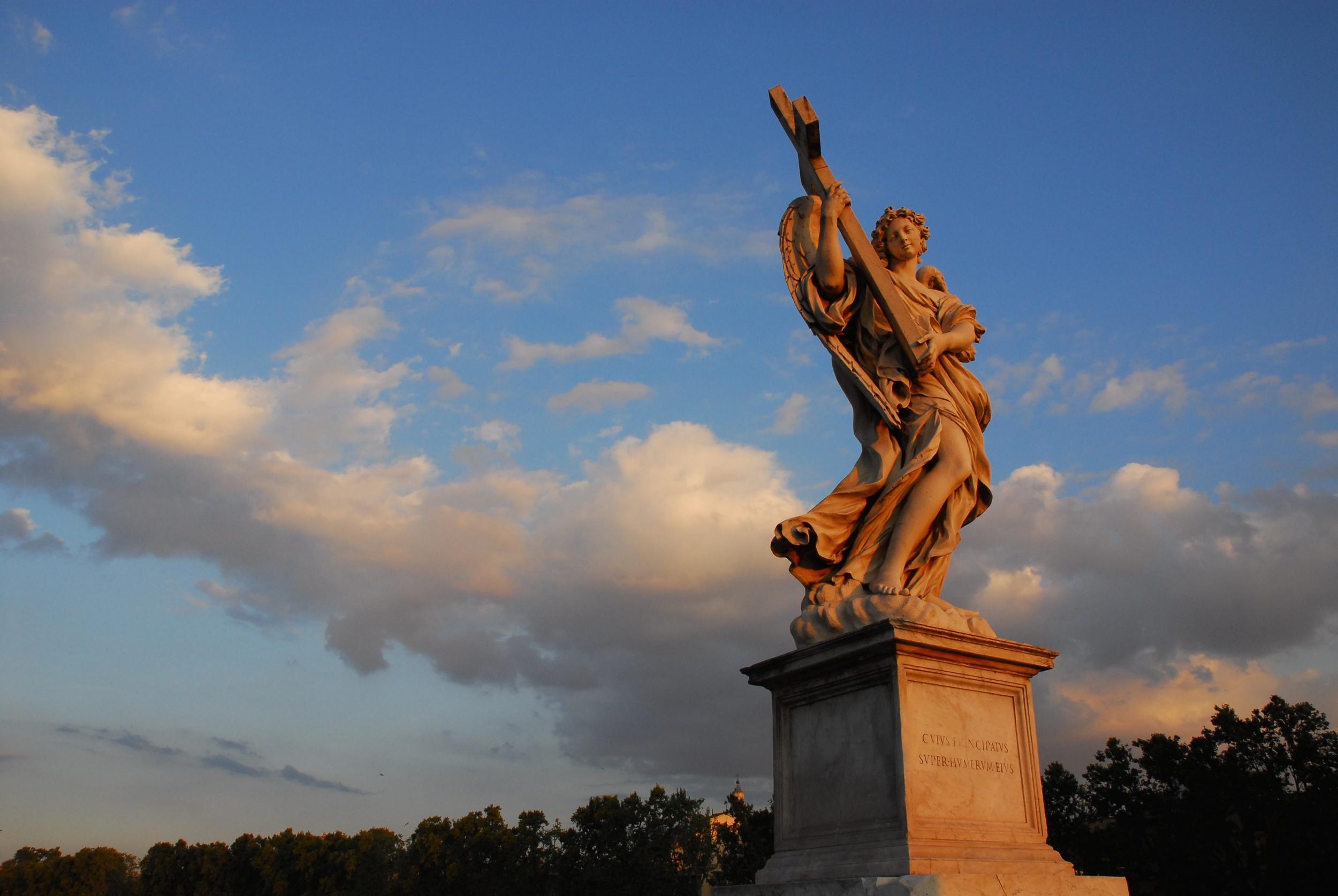 Bernini's Statue on Bridge of Angels