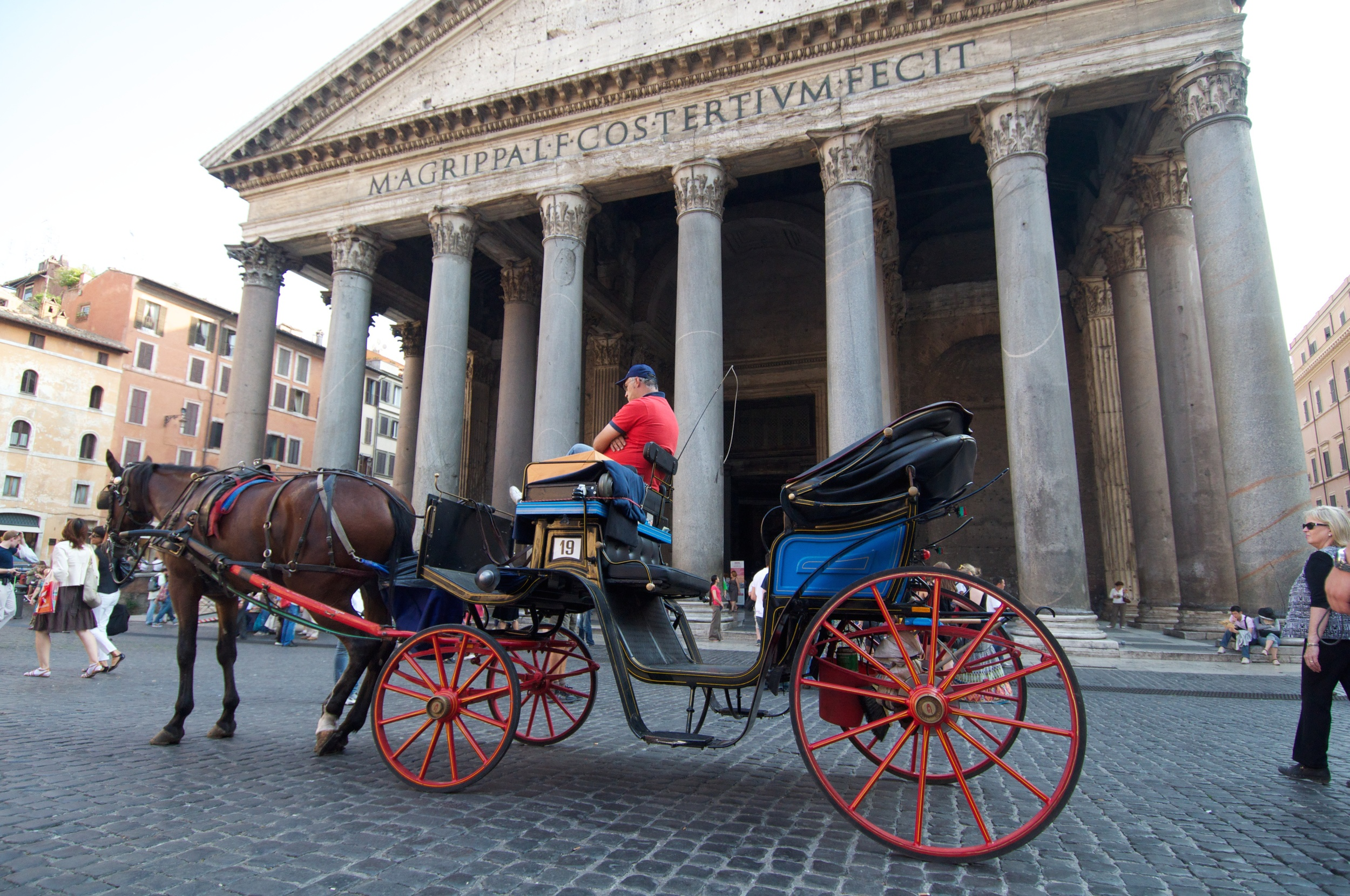 The Panteon Exterior with Tourist Carriage