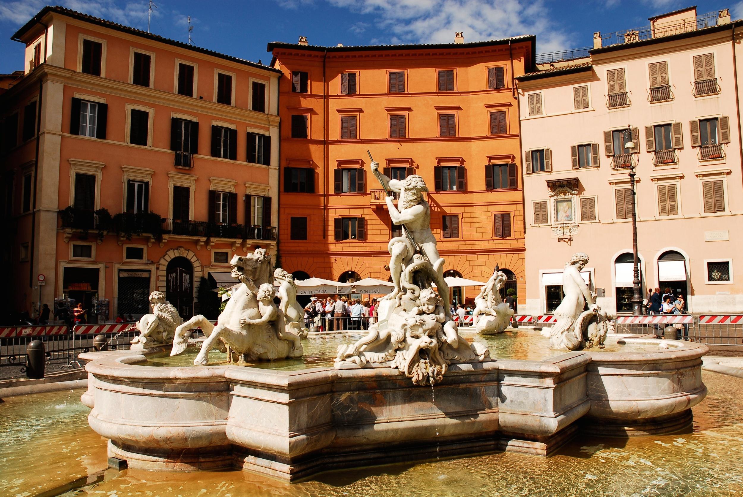 Neptune Fountain in Piazza Navona