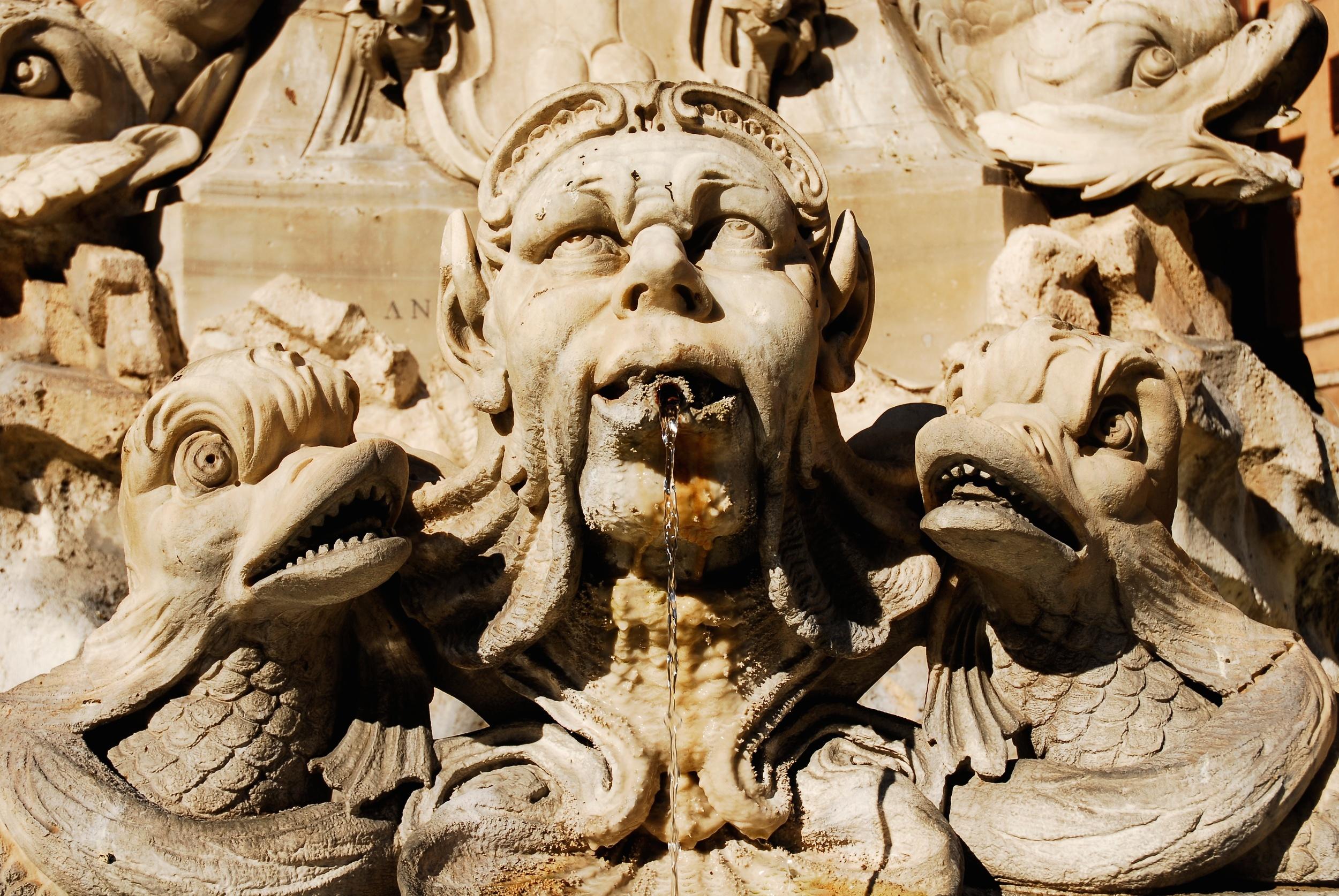 Detail of Pantheon Fountain