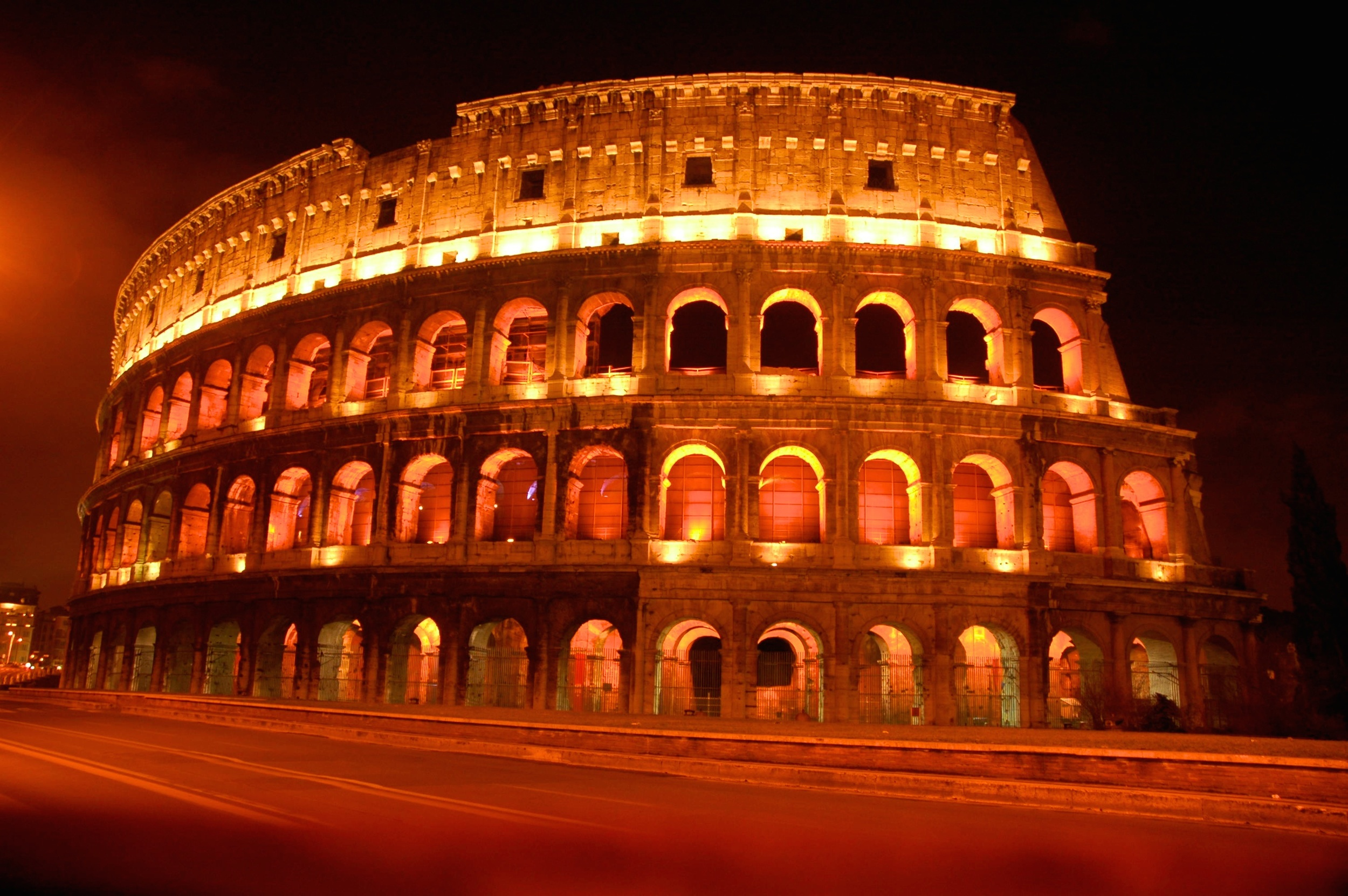 The Coliseum at Night