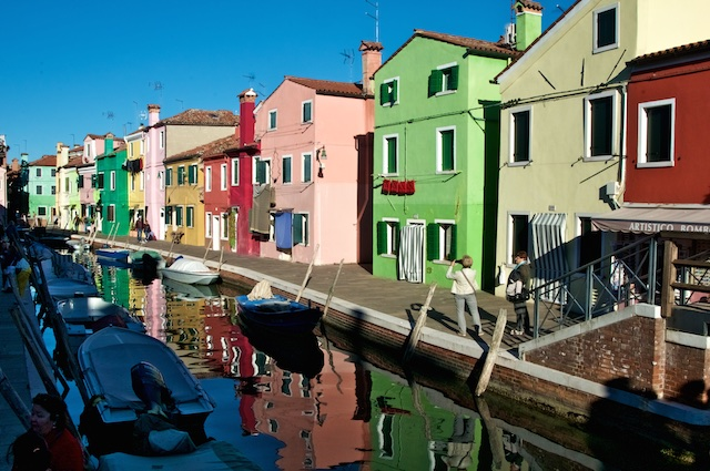 colorful streets of burano