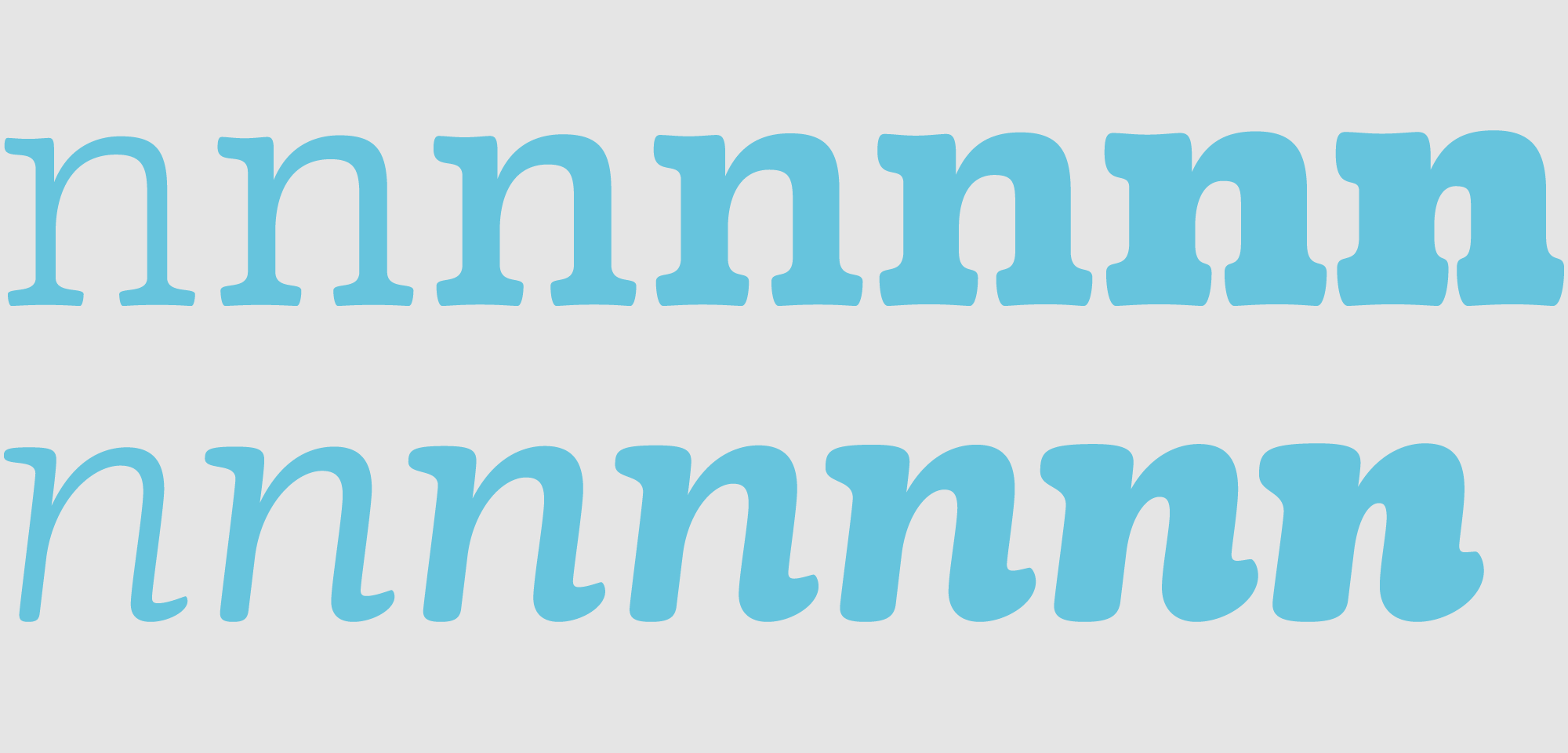The whole family includes seven weights on roman and italic styles.