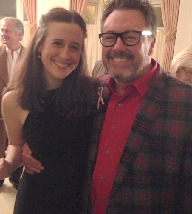 Samantha and Les Misérables director Jerry Jay Cranford at the Opening Night Reception.