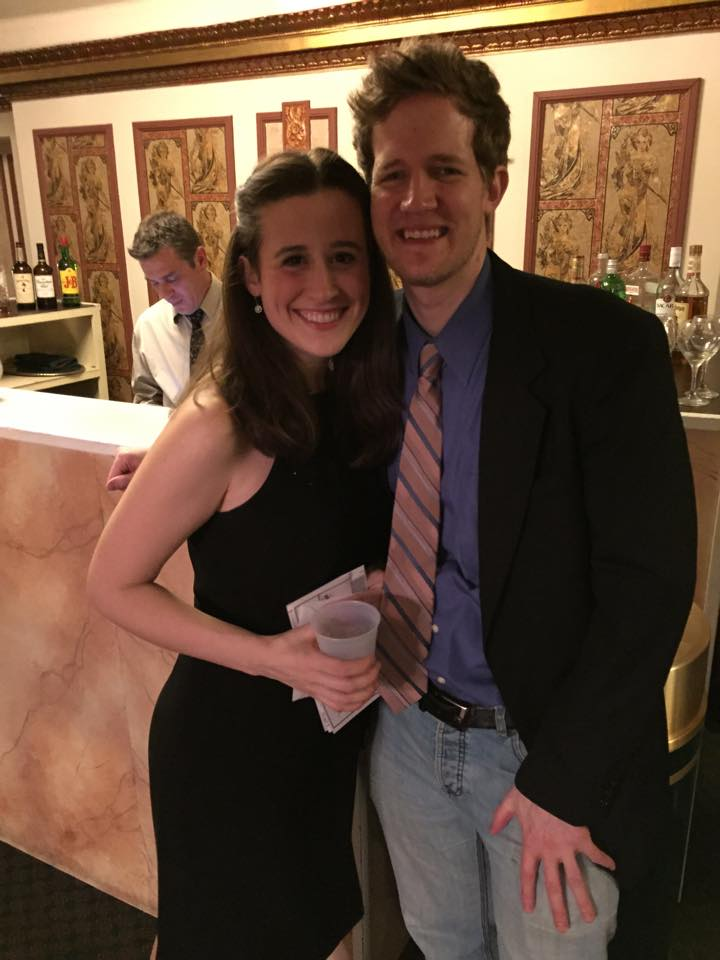 Samantha and Les Misérables MD Travis Smith at the Opening Night Reception