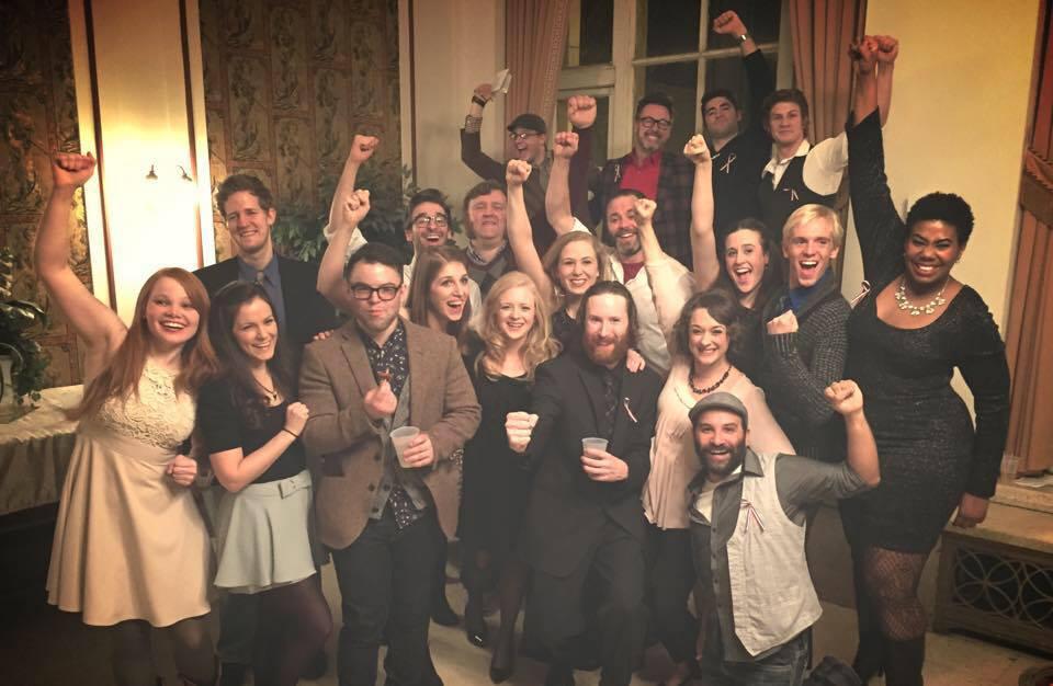 The cast of Les Misérables at Circa21 Dinner Playhouse