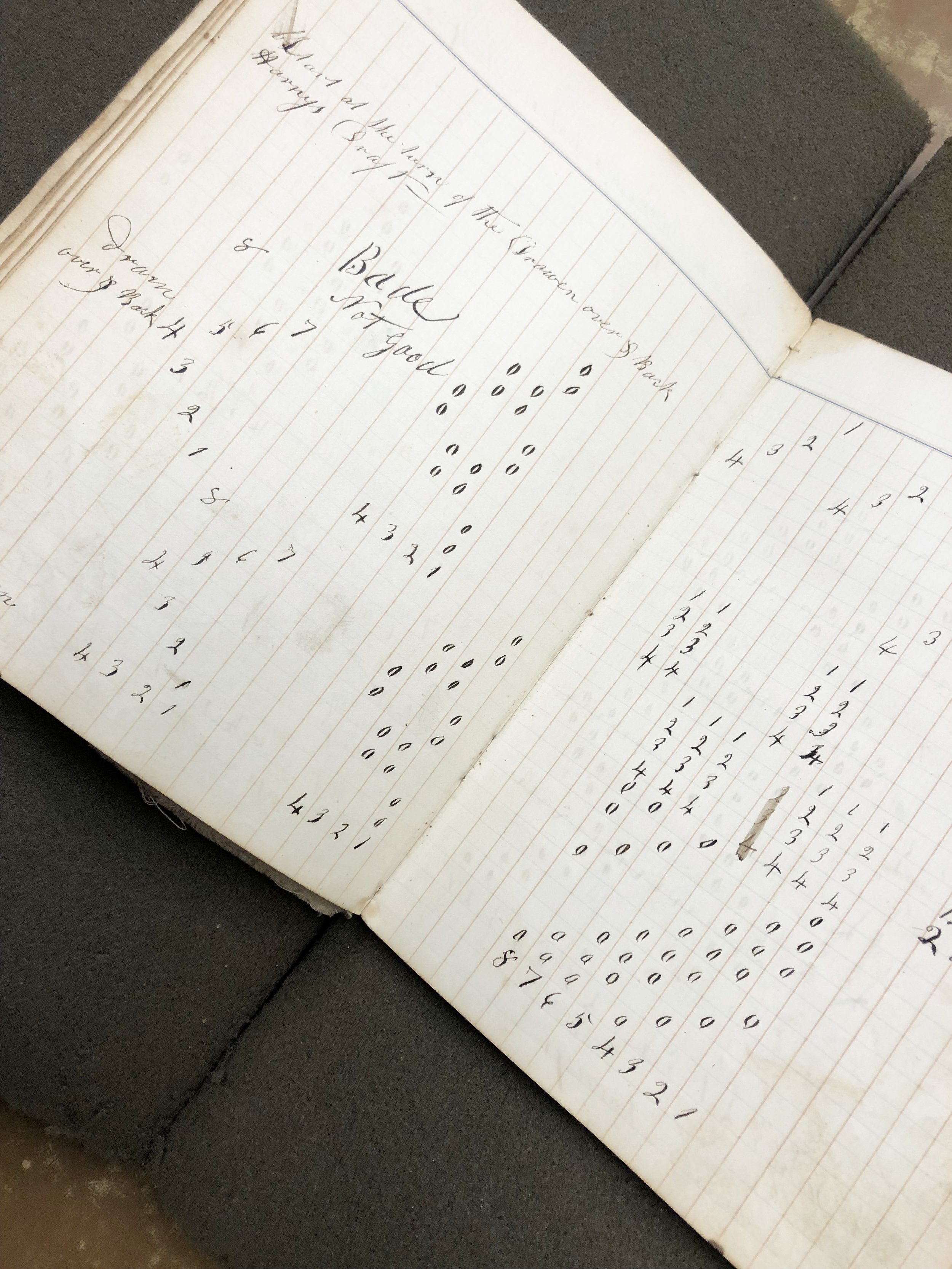 Weaver's draft book from 1867.