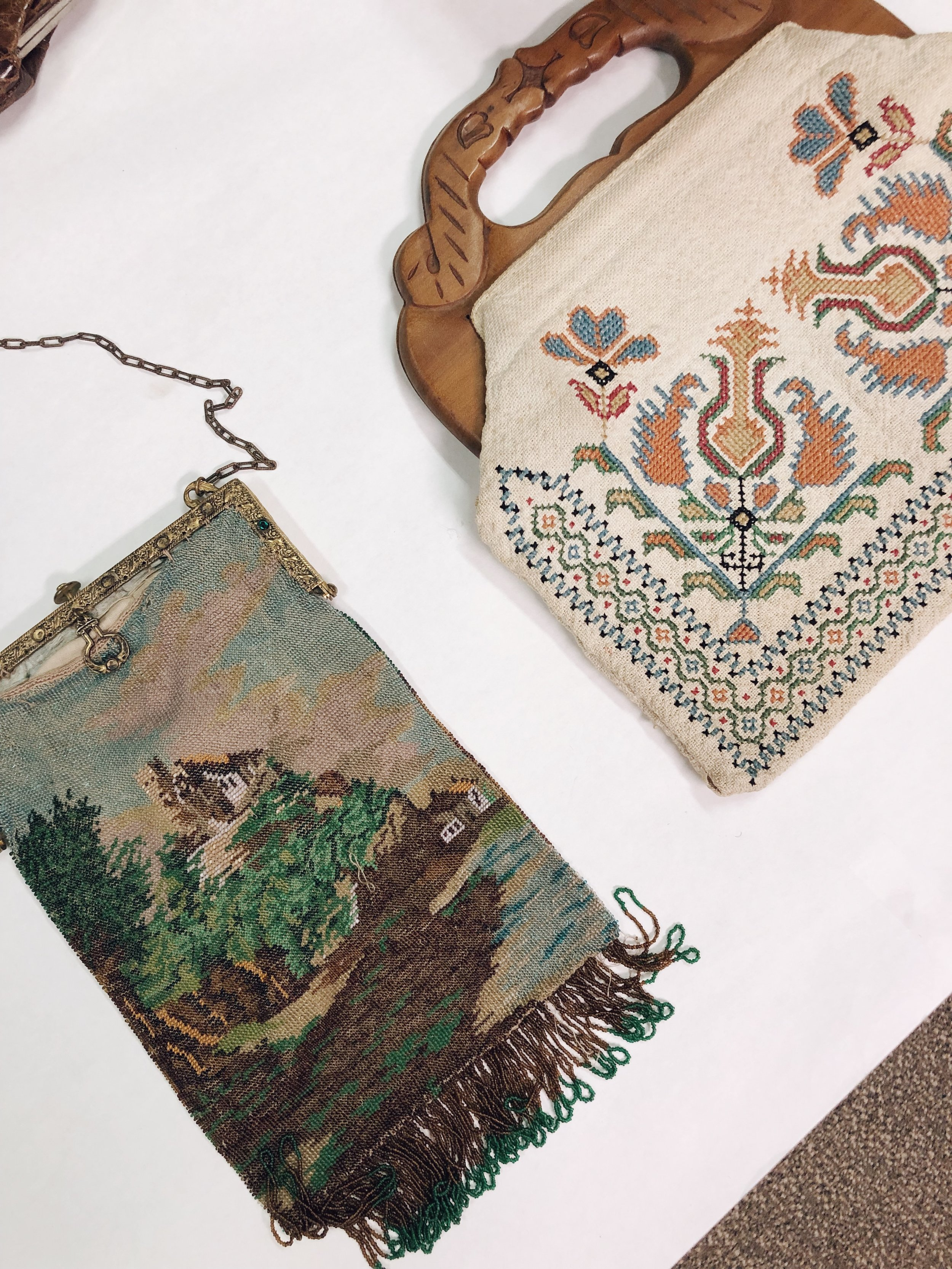 two beautiful examples of craftsmanship from the purse and bag collection.